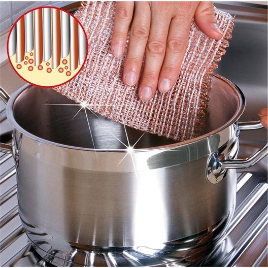 3 copper dishcloths