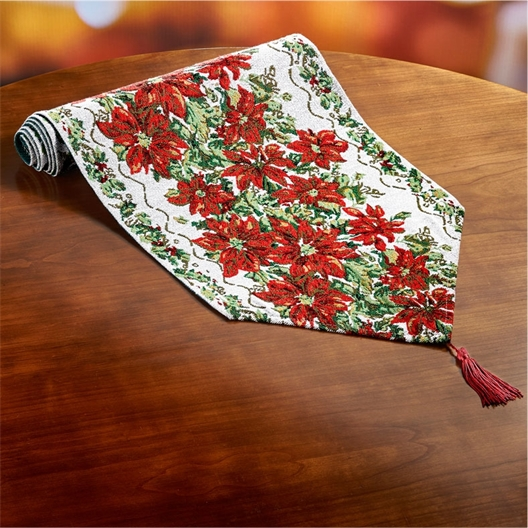 Chemin de table poinsettia
