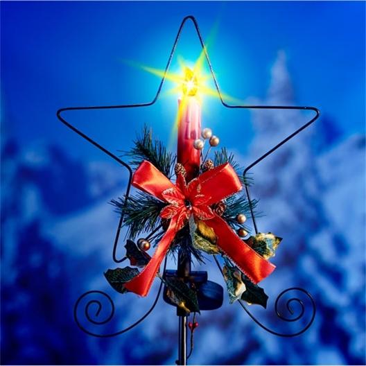 Kerstster op zonne-energie