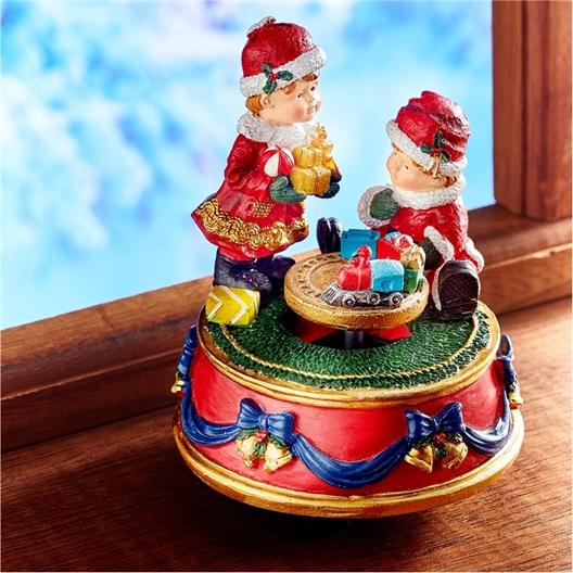 Muzikaal kerstfeesttafereel