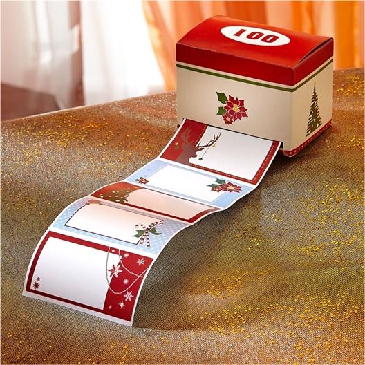 Rouleau 100 étiquettes cadeau