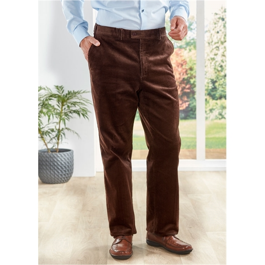 Ribfluwelen pantalon