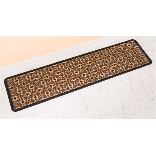 Bruin mat met cementtegelmotief 50 x 200 cm