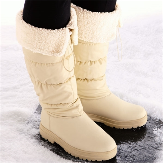 Knee-high boots crampons
