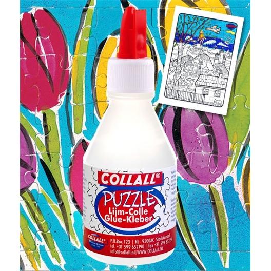 Transparent puzzle glue
