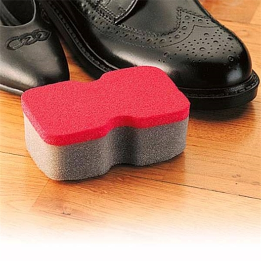 Pack of two shoe cleaning sponges
