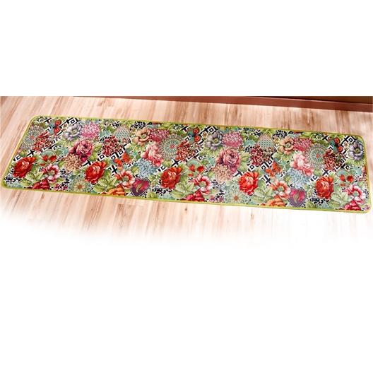 Flowers in winter rug