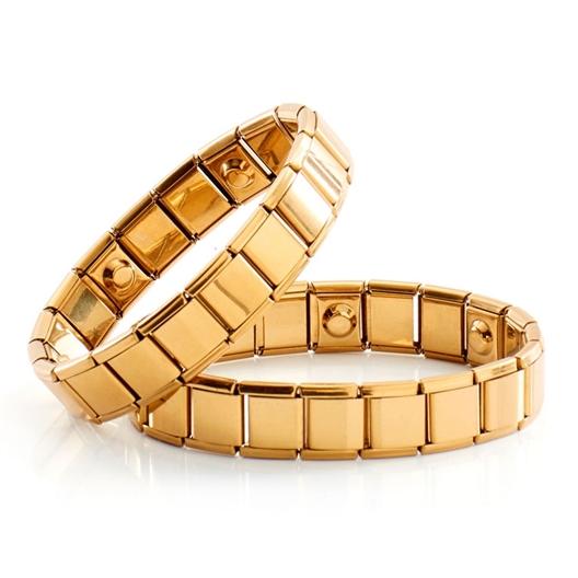 Goldfarbenes Magnet-Armband : Modell für Damen oder Modell für Herren
