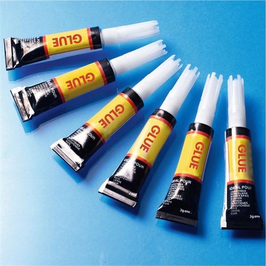 6 glue tubes