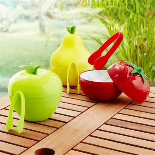 Seau à glace forme pomme, tomate, poire ou cerise