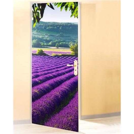 Deurposter Veld van Lavendel