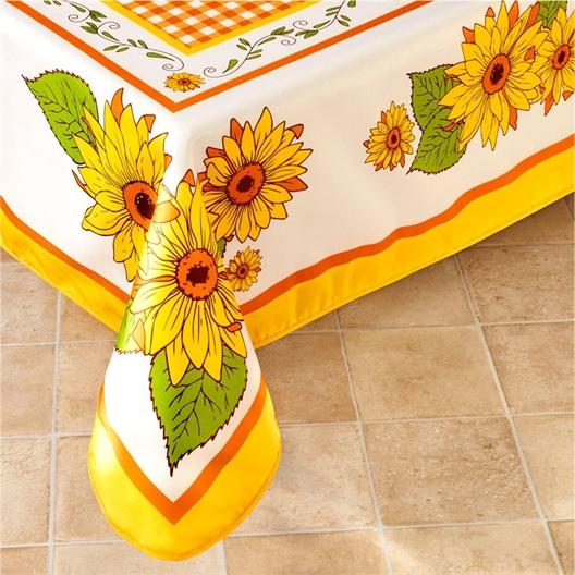 Circular sunflower tablecloth or rectangular