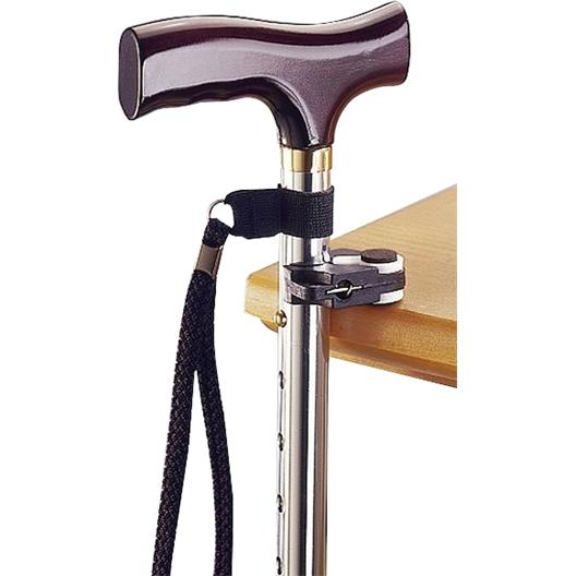 Cane clip + wrist strap