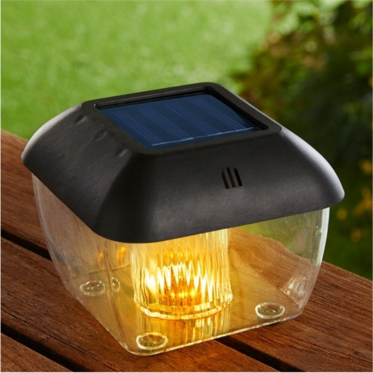 Solar-powered mosquito repellent box