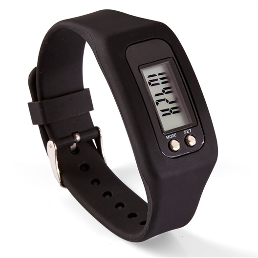 Silicone podometer watch Black, White or Floral