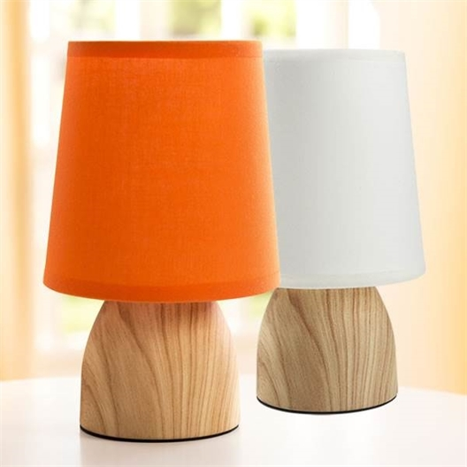 The Touch Lamp White or Orange shade