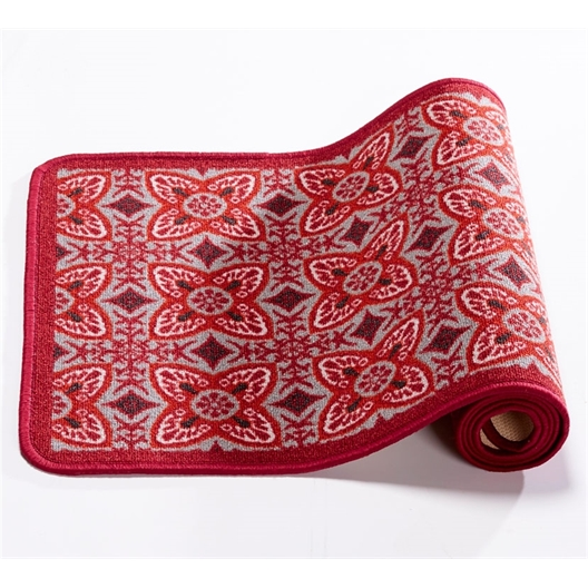 Tapis carreaux de ciment rouge 50 x 120 cm