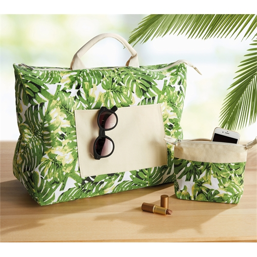 La parure Jungle : Sac week-end + Trousse