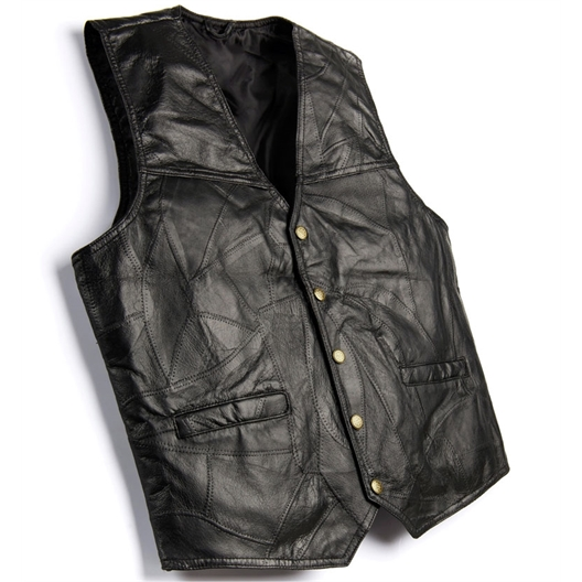 Sleeveless patchwork waistcoat
