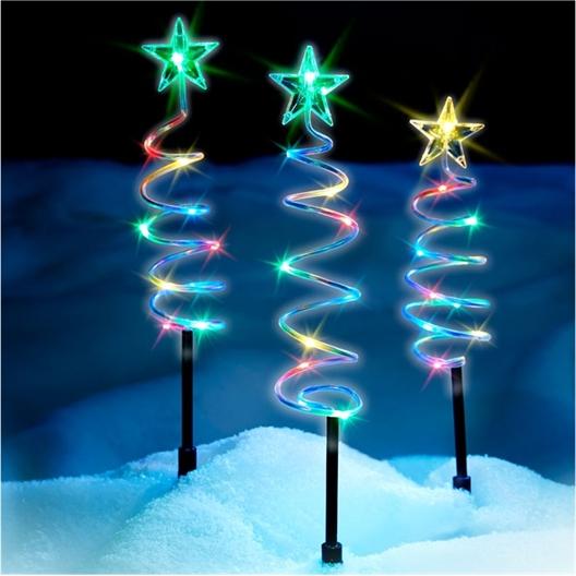 3 kerstspiralen op zonne-energie
