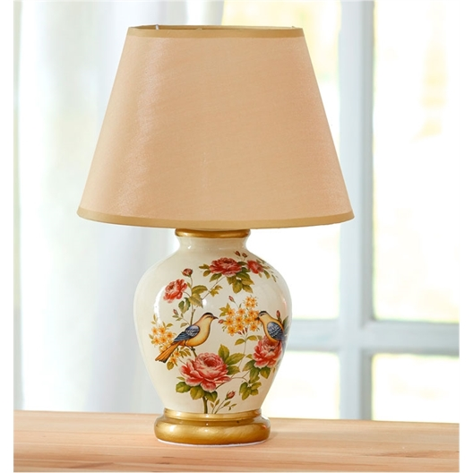 Rose pattern bedside lamp or Set of 2