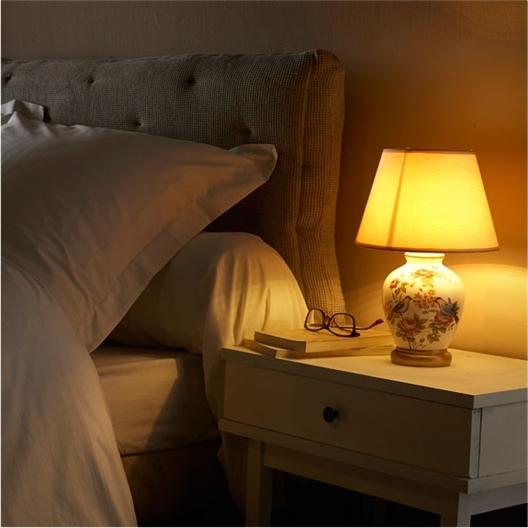 Bed-/tafellamp met rozenmotief of Set van 2