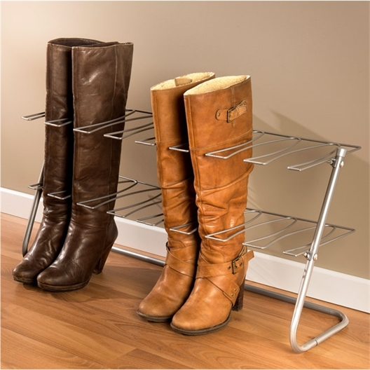 Metal boot rack