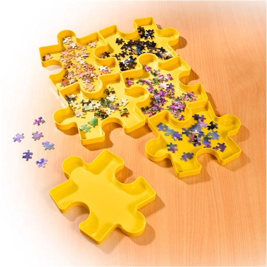 Set van 6 stapelbare puzzeldozen