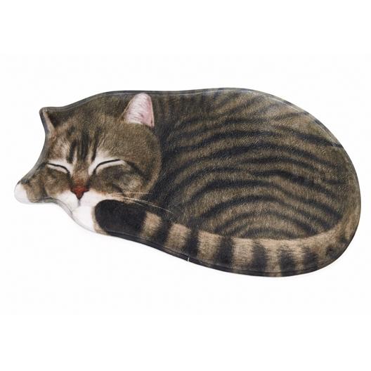 Tapis confort 3D Chat gris