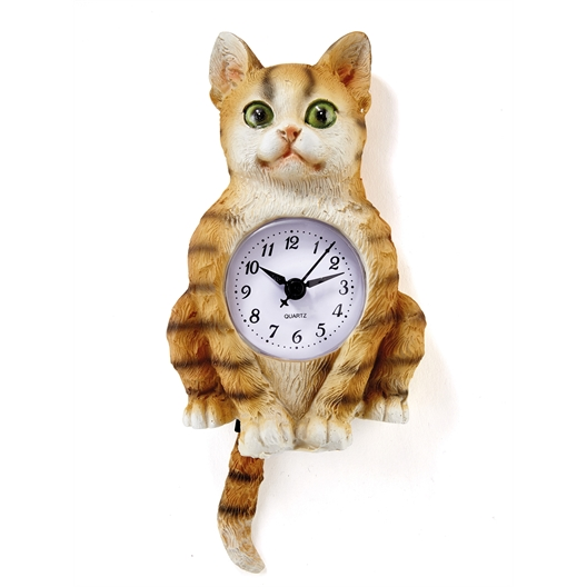 Clock Ginger cat or Clock White dog