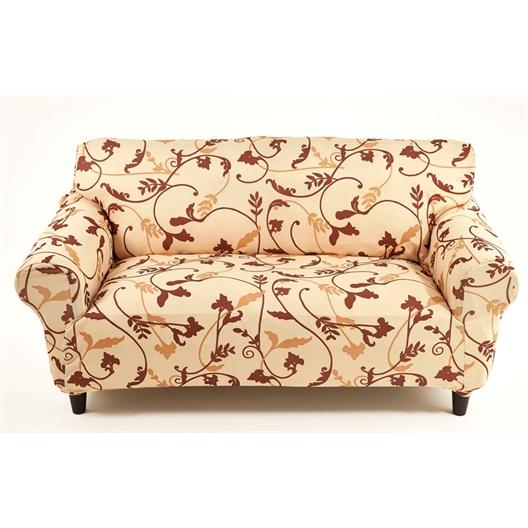 Housse fauteuil arabesque marron