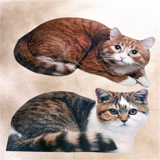 Cat shaped rug Rouxi or or set of 2 (Rouxi + Gribouille)
