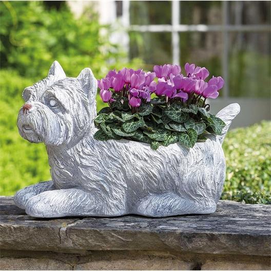 Westie flowerpot