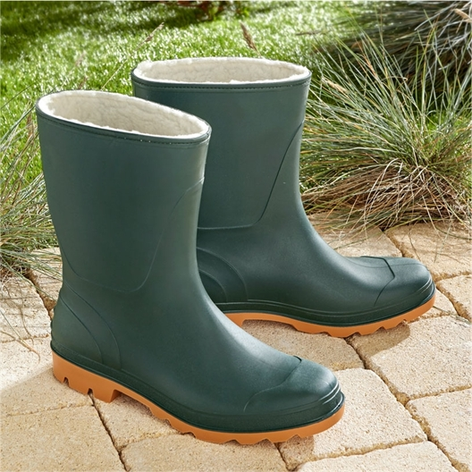 Furry garden wellies