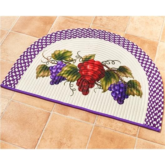 Ovale mat met druiven / Mat halve maan met druiventrossen