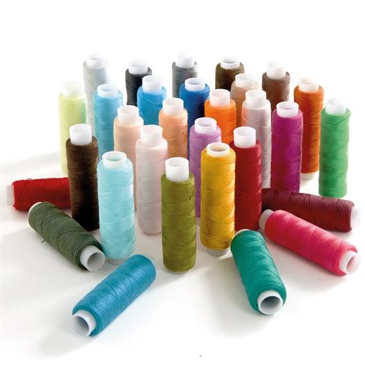 Coffret de 30 bobines de fils coloris assortis