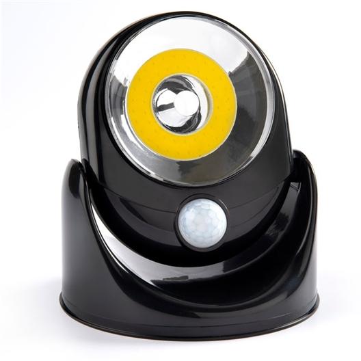 Motion sensor light Black