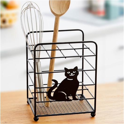 Cat utensil holder