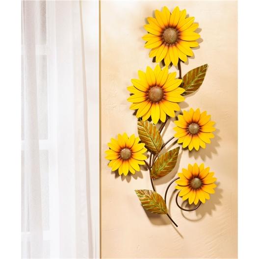 Wanddecoratie zonnebloemen