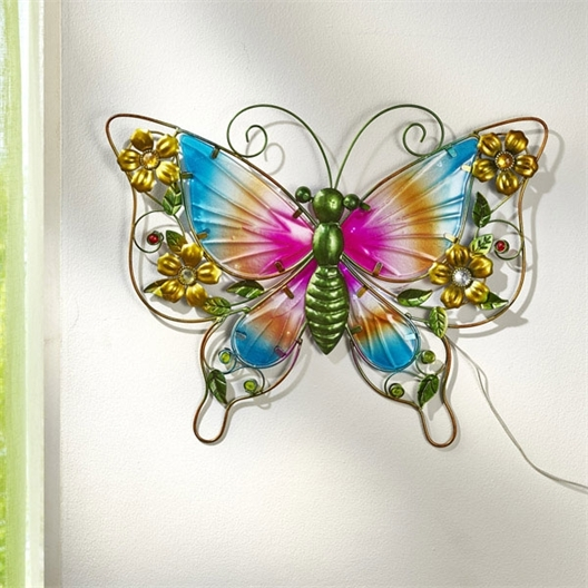 Papillon mural solaire