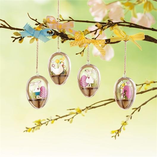 Set van vier de versieren eieren