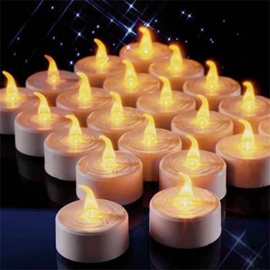 6 bougies plates LED