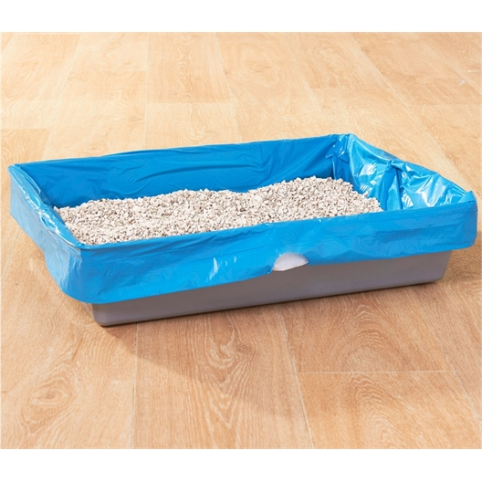 8 plastic kattenbakzakken
