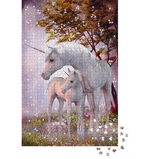 Swarovski crystal puzzle Unicorn and foal