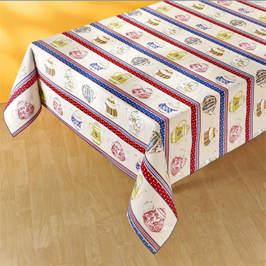 Teapot collection tablecloth