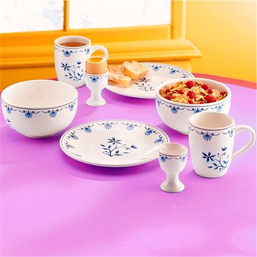 Ensemble petit déjeuner bleu