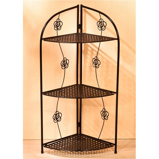 Floral corner shelves 3 or 4 tiers