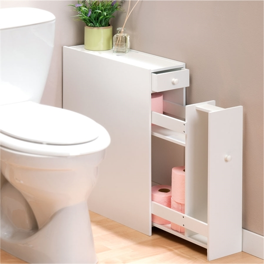 Meuble blanc pour WC