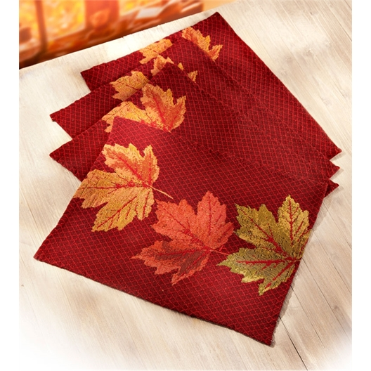 Foliage table mats