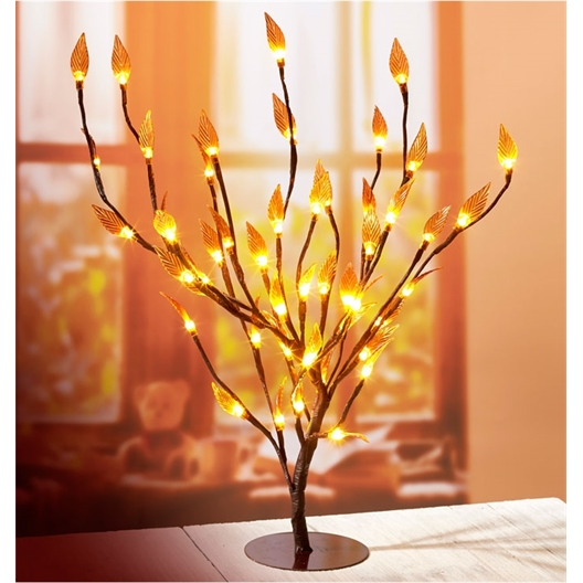Illuminated amber tree